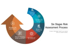 Six Stages Risk Assessment Process Ppt PowerPoint Presentation Gallery Grid PDF