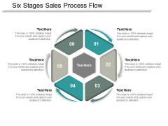 Six Stages Sales Process Flow Ppt Powerpoint Presentation Outline Guidelines