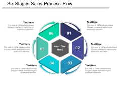 Six Stages Sales Process Flow Ppt PowerPoint Presentation Visual Aids Portfolio