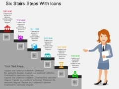 Six Stairs Steps With Icons Powerpoint Templates