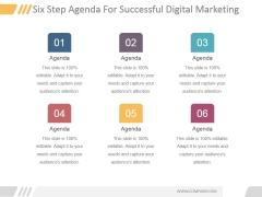 Six Step Agenda For Successful Digital Marketing Ppt PowerPoint Presentation Icon