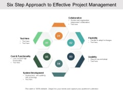 Six Step Approach To Effective Project Management Ppt PowerPoint Presentation Outline Deck