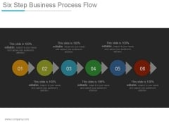 Six Step Business Process Flow Ppt PowerPoint Presentation Portfolio