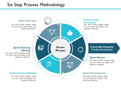 Six Step Process Methodology Ppt PowerPoint Presentation Outline Icon