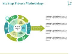 Six Step Process Methodology Ppt PowerPoint Presentation Professional Icon