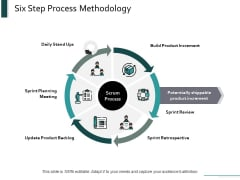 Six Step Process Methodology Ppt Powerpoint Presentation Professional Portfolio