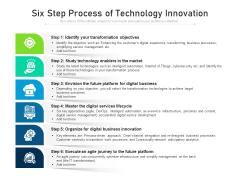 Six Step Process Of Technology Innovation Ppt PowerPoint Presentation Model Guide PDF