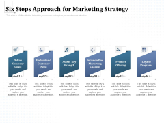 Six Steps Approach For Marketing Strategy Ppt PowerPoint Presentation Model Files