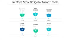Six Steps Arrow Design For Business Cycle Ppt PowerPoint Presentation File Pictures PDF