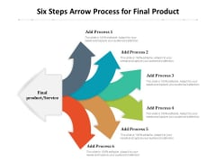 Six Steps Arrow Process For Final Product Ppt PowerPoint Presentation Layouts Design Templates PDF
