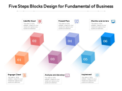 Six Steps Blocks Design For Fundamental Of Business Ppt PowerPoint Presentation Styles Icon PDF