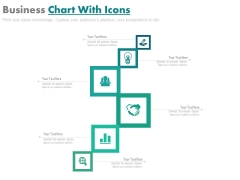 Six Steps Business Chart With Icons Powerpoint Template