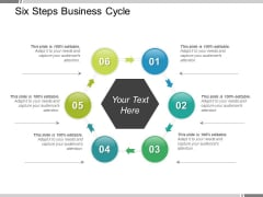 Six Steps Business Cycle Ppt PowerPoint Presentation Ideas Influencers