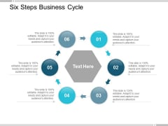 Six Steps Business Cycle Ppt Powerpoint Presentation Layouts Aids