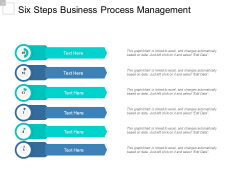 Six Steps Business Process Management Ppt Powerpoint Presentation Slides Template