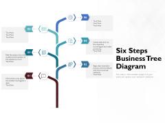 Six Steps Business Tree Diagram Ppt PowerPoint Presentation Ideas Background Designs