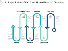 Six Steps Business Workflow Initiation Execution Operation Ppt PowerPoint Presentation Summary Slides