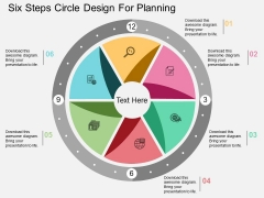 Six Steps Circle Design For Planning Powerpoint Template