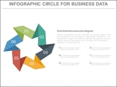 Six Steps Circular Chart For Workflow Powerpoint Slides