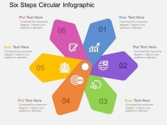Six Steps Circular Infographic Powerpoint Templates