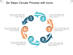 Six Steps Circular Process With Icons Ppt Powerpoint Presentation Professional Ideas