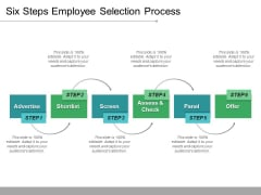 Six Steps Employee Selection Process Ppt PowerPoint Presentation Layouts Icon