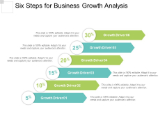 Six Steps For Business Growth Analysis Ppt Powerpoint Presentation Model Deck