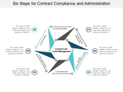Six Steps For Contract Compliance And Administration Ppt PowerPoint Presentation Professional Visuals