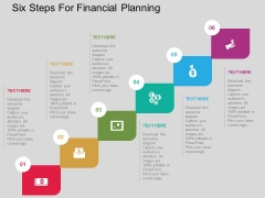 Six Steps For Financial Planning Powerpoint Templates