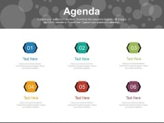 Six Steps Guide For Business Agenda Powerpoint Slides