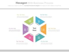 Six Steps Hexagon For Underlying Assumptions Powerpoint Template