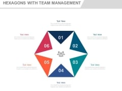 Six Steps Hexagons For Team Management Powerpoint Slides