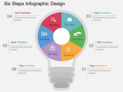 Six Steps Infographic Design Powerpoint Template