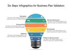 Six Steps Infographics For Business Plan Validation Ppt PowerPoint Presentation File Graphics Download PDF
