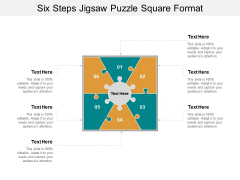 Six Steps Jigsaw Puzzle Square Format Ppt PowerPoint Presentation Outline Elements