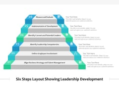 Six Steps Layout Showing Leadership Development Ppt PowerPoint Presentation Ideas Shapes PDF