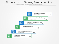 Six Steps Layout Showing Sales Action Plan Ppt PowerPoint Presentation Professional Summary PDF
