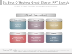 Six Steps Of Business Growth Diagram Ppt Example