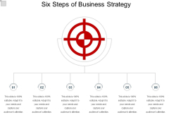 Six Steps Of Business Strategy Ppt PowerPoint Presentation Infographics Objects PDF