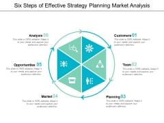 Six Steps Of Effective Strategy Planning Market Analysis Ppt Powerpoint Presentation Outline Objects