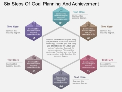 Six Steps Of Goal Planning And Achievement Powerpoint Templates