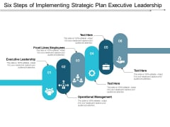 Six Steps Of Implementing Strategic Plan Executive Leadership Ppt Powerpoint Presentation Summary Samples