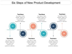 Six Steps Of New Product Development Ppt PowerPoint Presentation Pictures Gridlines