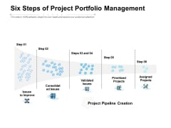 Six Steps Of Project Portfolio Management Ppt PowerPoint Presentation Outline Example