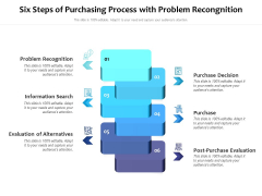Six Steps Of Purchasing Process With Problem Recongnition Ppt PowerPoint Presentation File Introduction PDF