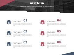Six Steps Of Setting An Agenda Powerpoint Slides