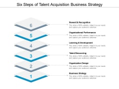 Six Steps Of Talent Acquisition Business Strategy Ppt PowerPoint Presentation Layouts Format