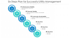 Six Steps Plan For Successful Utility Management Ppt PowerPoint Presentation Gallery Clipart Images PDF