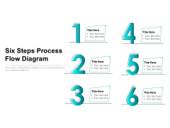 Six Steps Process Flow Diagram Ppt PowerPoint Presentation Infographic Template Example File