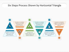 Six Steps Process Shown By Horizontal Triangle Ppt PowerPoint Presentation File Layout Ideas PDF